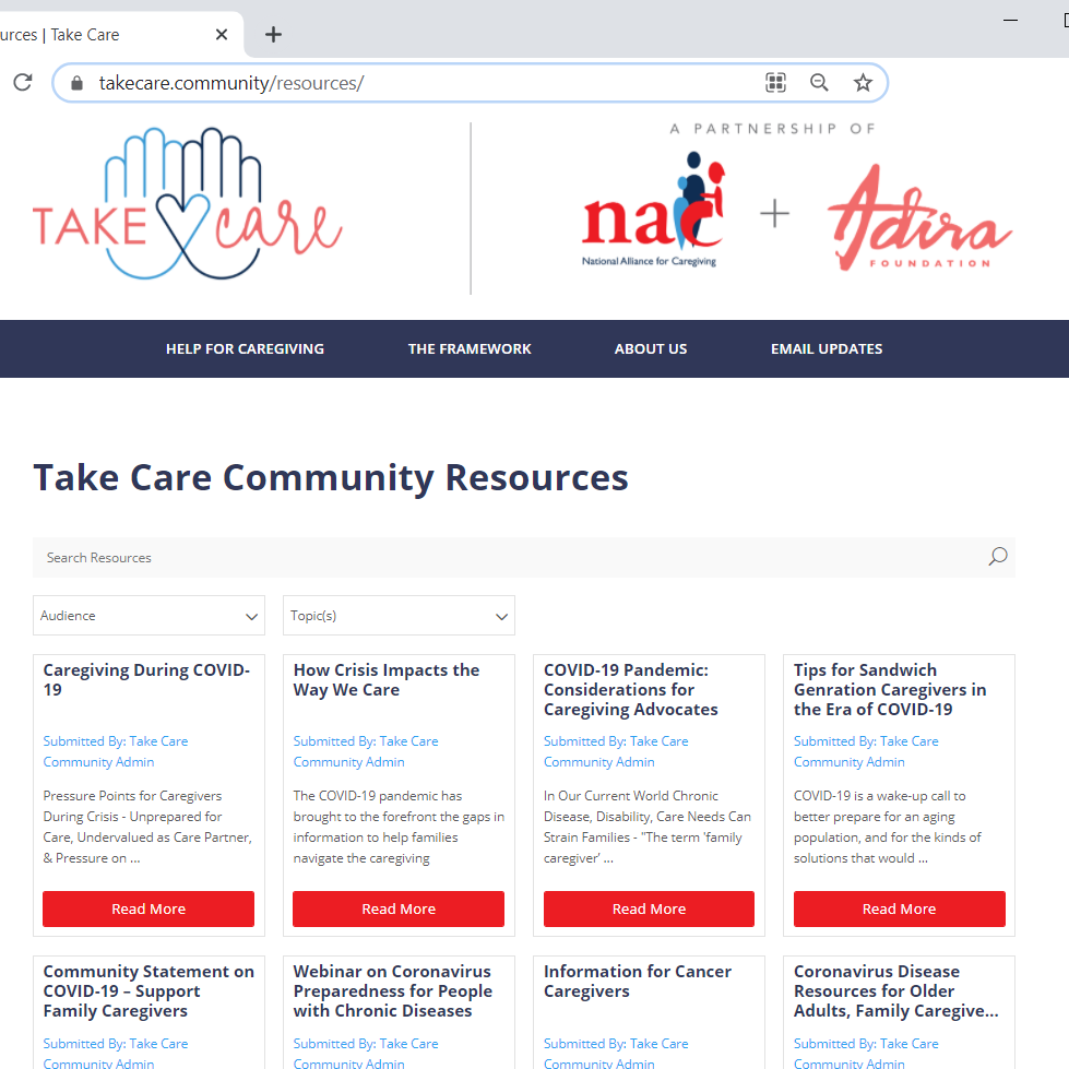 take care community caregiving resource