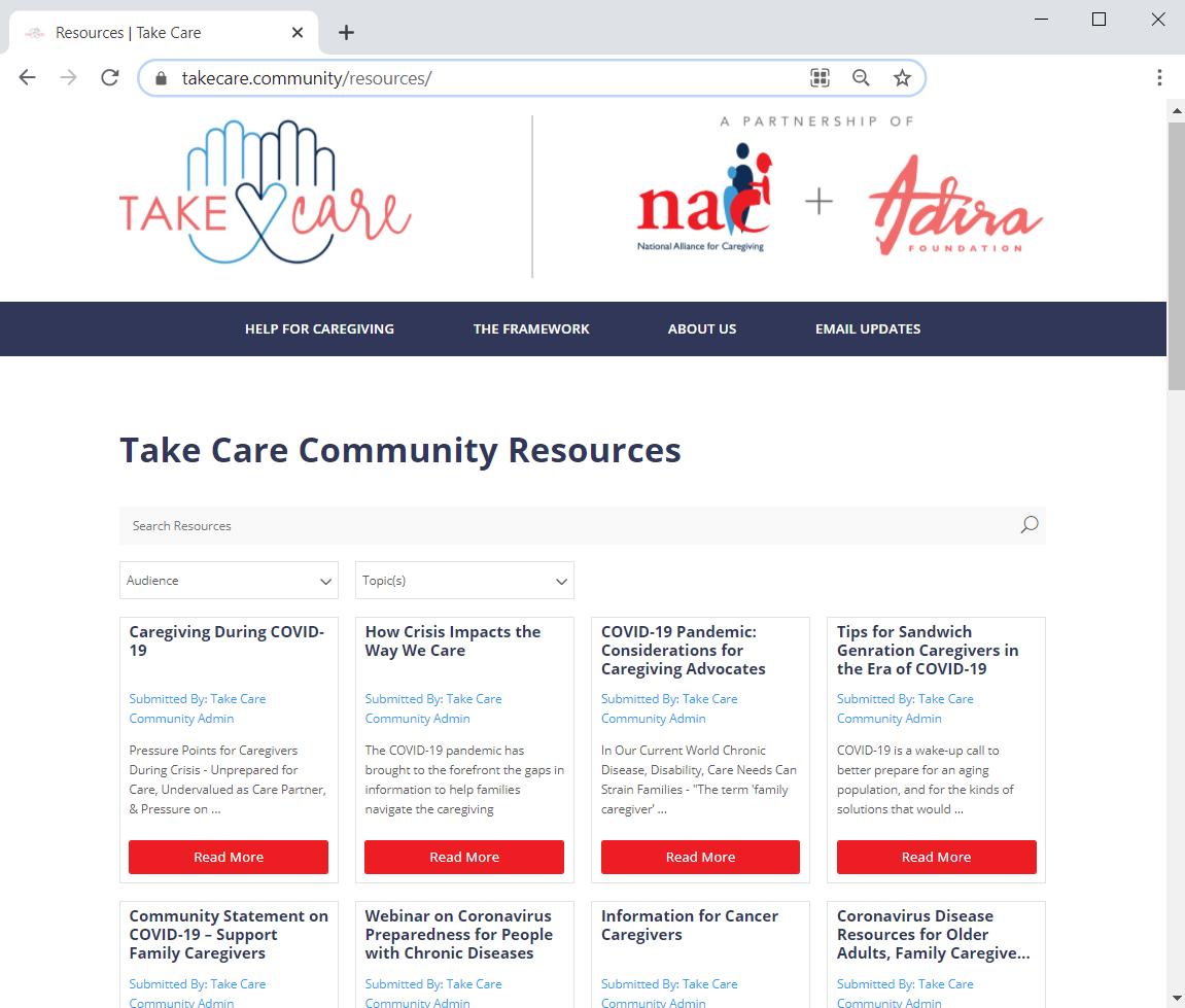 take care community caregiving resource